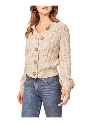 REFORMATION annie cable knit cardigan