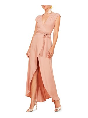 REFORMATION chamomile wrap maxi dress