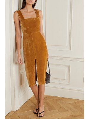 REFORMATION net sustain emira velvet dress
