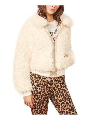 REFORMATION freddie faux fur bomber jacket