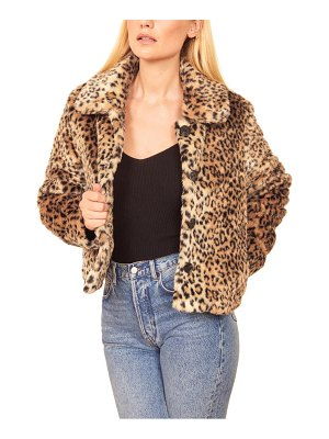 REFORMATION hampton faux fur coat
