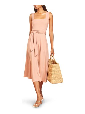 REFORMATION helina tie back midi dress
