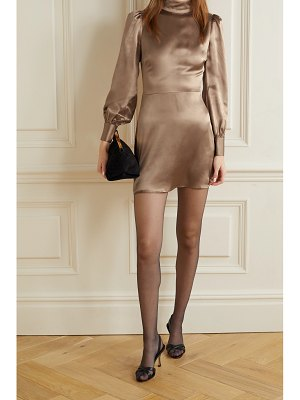 REFORMATION kim open-back silk-satin mini dress