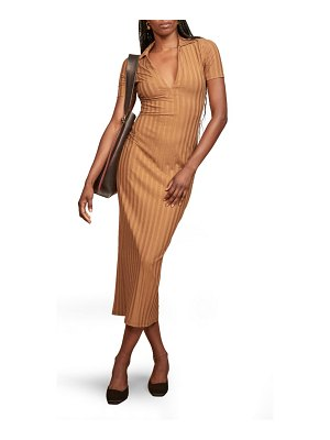REFORMATION lumi stripe midi dress