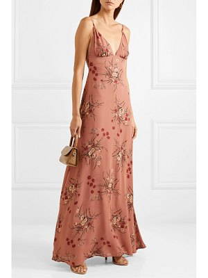 REFORMATION modena open-back floral-print georgette maxi dress