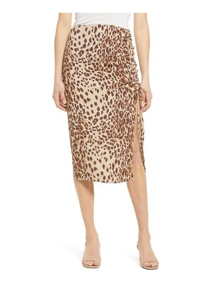 REFORMATION prose cheetah pencil skirt