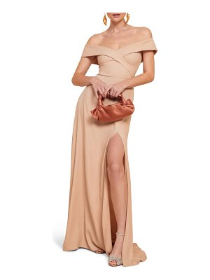 REFORMATION redford off the shoulder side slit maxi dress