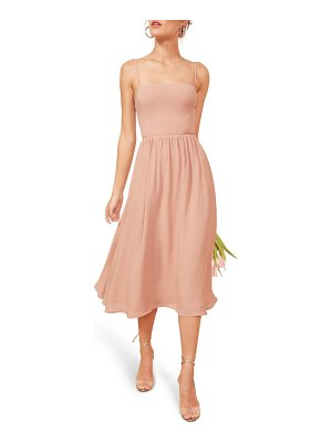 REFORMATION rosehip fit & flare dress