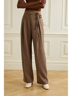 REFORMATION sonia belted pleated tencel wide-leg pants