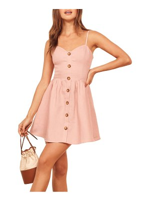 REFORMATION velma sleeveless minidress