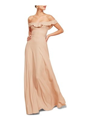 REFORMATION verbena fit & flare gown