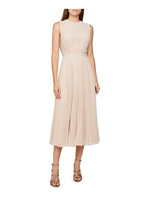Reiss pandora pleat sleeveless dress