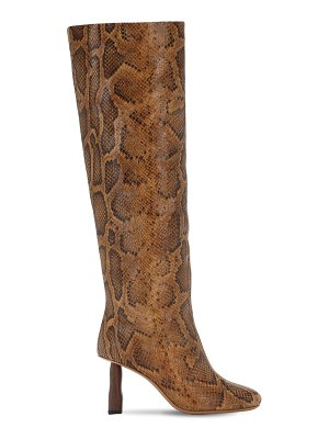 Rejina Pyo 80mm snake print leather tall boots