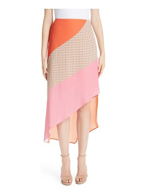 Rejina Pyo bella colorblock crepe skirt