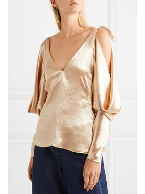 Rejina Pyo camille cold-shoulder draped satin blouse