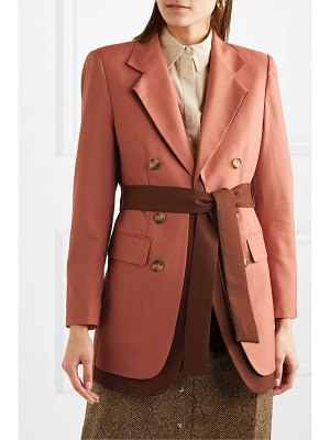Rejina Pyo elliot belted double-breasted layered wool blazer