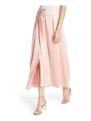 Rejina Pyo ellis belted satin wrap skirt