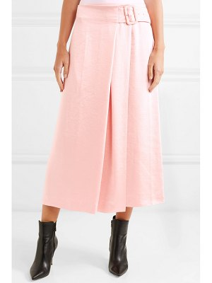 Rejina Pyo ellis satin wrap midi skirt