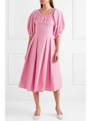 Rejina Pyo greta bow-embellished cotton midi dress