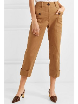 Rejina Pyo hazel cropped cotton-blend twill straight-leg pants