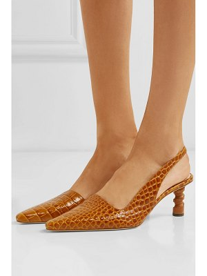 Rejina Pyo joan croc-effect leather slingback pumps