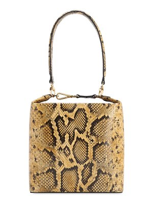 Rejina Pyo Lucie python printed leather bag