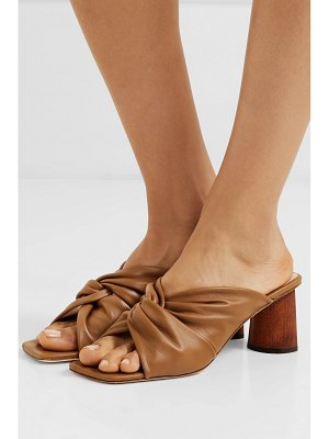 Rejina Pyo naomi knotted leather mules