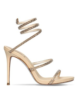 Rene Caovilla 105mm snake swarovski leather sandals
