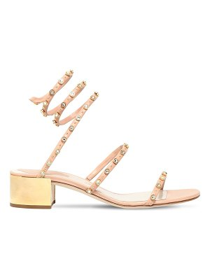 Rene Caovilla 40mm snake swarovski leather sandals