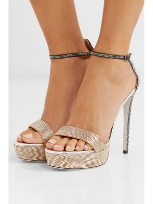 Rene Caovilla celebrita crystal-embellished leather platform sandals