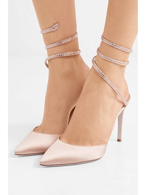 Rene Caovilla cleo crystal-embellished satin pumps
