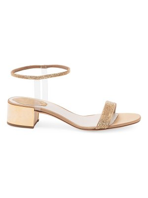 Rene Caovilla crystal-embellished block heel sandals