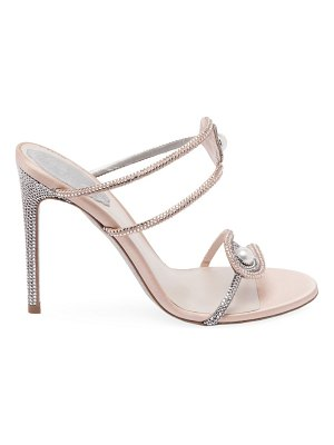 Rene Caovilla crystal & pearl embellished strappy stiletto sandals