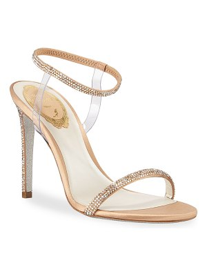 Rene Caovilla Crystal-Trim 105mm Sandals with PVC Straps