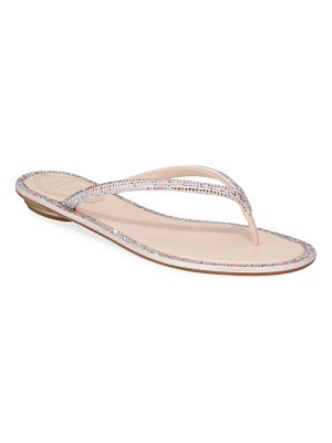 Rene Caovilla Flat Romantic Mix Thong Sandals