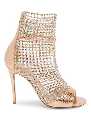 Rene Caovilla galaxia embellished leather sock peep-toe sandals