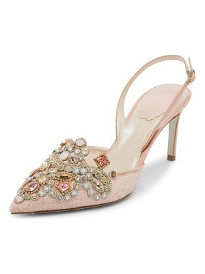 Rene Caovilla jewel slingback pumps