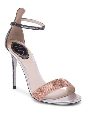 Rene Caovilla satin ankle strap stiletto pumps