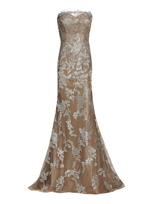Rene Ruiz Collection lace strapless gown