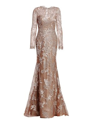 Rene Ruiz embellished sleeve gown