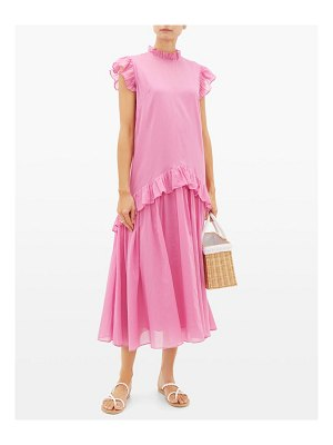 Rhode mary ruffled cotton dress