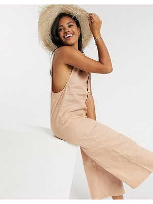Rhythm v neck beach jumpsuit in blush-pink