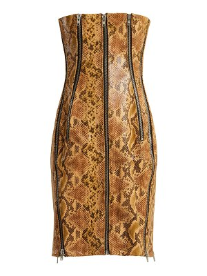 RICHARD QUINN Python Effect Leather Dress