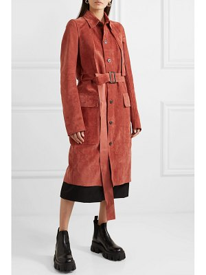 Rick Owens forked suede trench coat