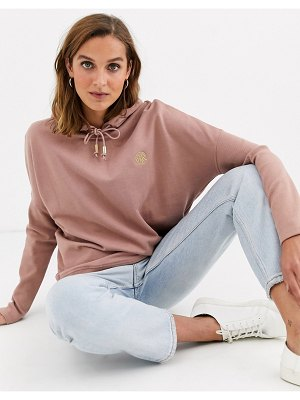 River Island batwing hoody in pink