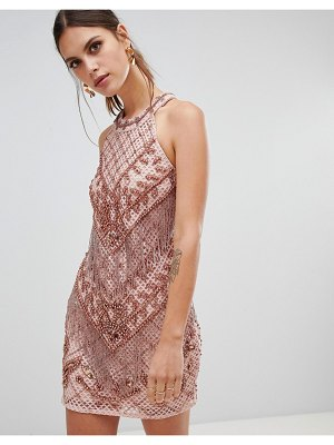 River Island embellished bodycon dress in pink