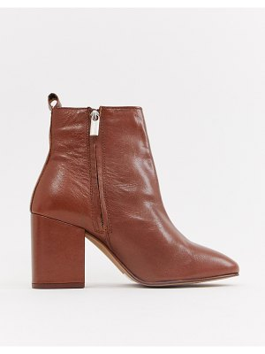 River Island heeled boots in tan