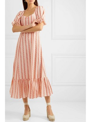 Rixo kate floral-print cotton midi dress