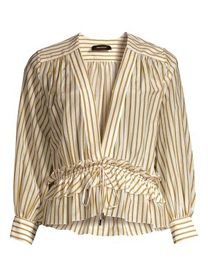 Robert Rodriguez mariel striped cotton blouse