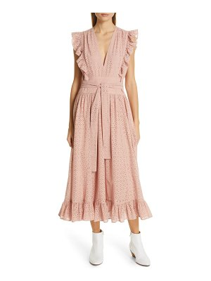 Robert Rodriguez ruffle eyelet dress